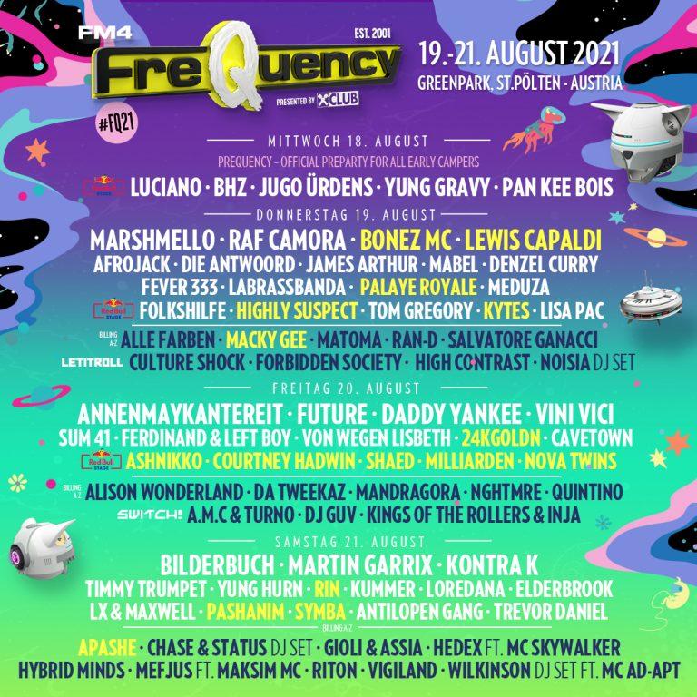 FQ21 Frequency Ashnikko Krystal Lake Festival Marshmello 2021
